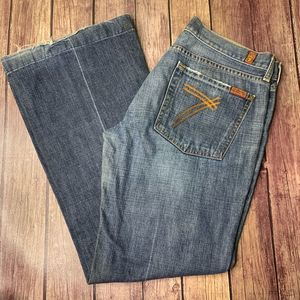 7 for ALL MANKIND Dojo Flair Blue Jeans